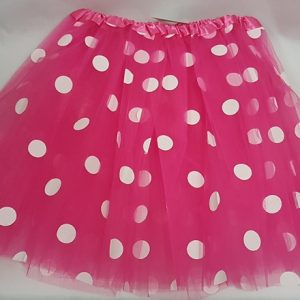 Pink polka dot skirt