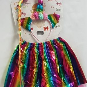 Rainbow unicorn skirt set