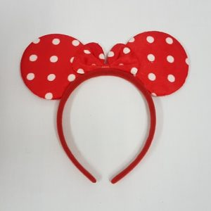 Red polka dot minnie mouse ears