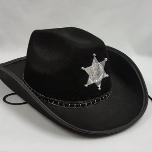 Sheriff hat with badge