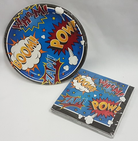 Superhero tableware
