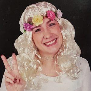 Wig - platinum blonde curly
