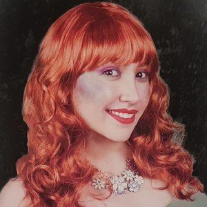 Wig - auburn wig with fringe