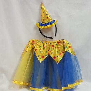 Clown tutu set - yellow & blue