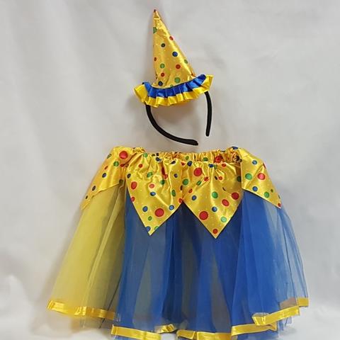 Clown tutu set - yellow & blue