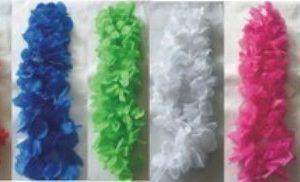 Coloured leis - silk flowers