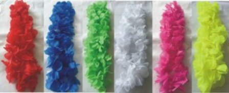 Coloured leis - silk flowers