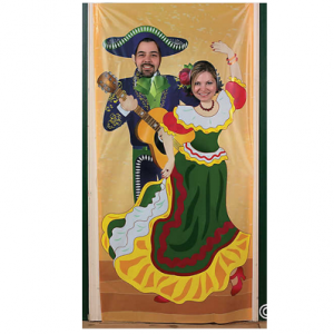 Fiesta couple photo door cover