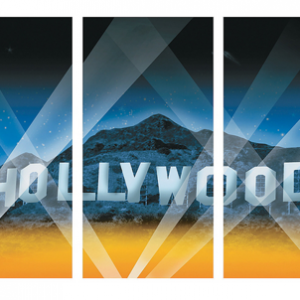 Hollywood hills 3pc backdrop