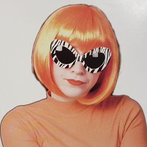 Orange bob wig