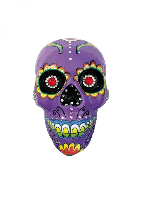 Purple decorated skull