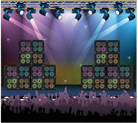 Rock star banner backdrop