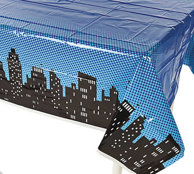 Superhero table cover