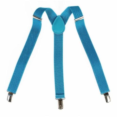 Turquoise suspenders