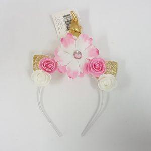 Unicorn headband - pink & gold