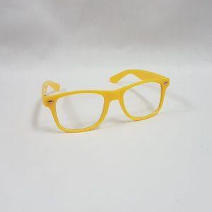 Yellow 80's glasses
