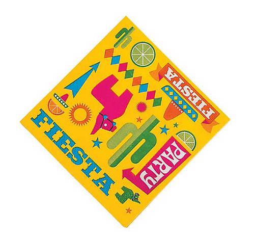 Fiesta party beverage napkins