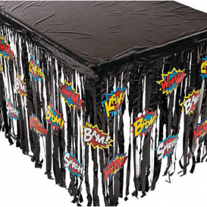 Superhero table skirt