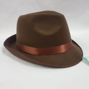 Brown fedora Oktoberfest hat