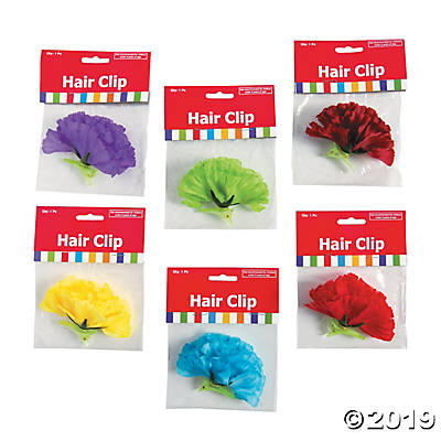 Fiesta flower hair clips