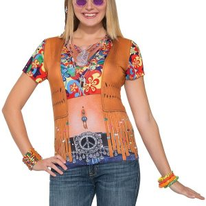 Ladies hippie 3D t - shirt