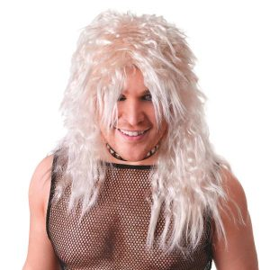 Blonde rock star wig