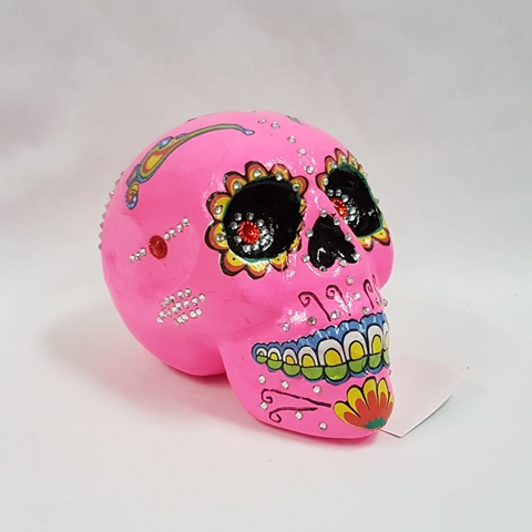 Day of the Dead decorated skull pink
