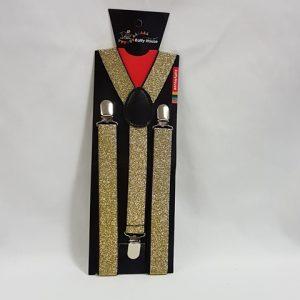 Gold glitter suspenders