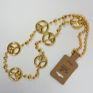 Gold peacesign beads