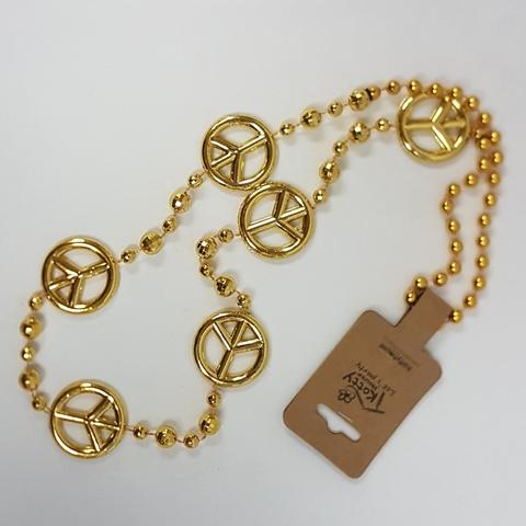 Gold peacesign beads