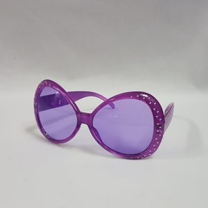Purple 80's style glasses