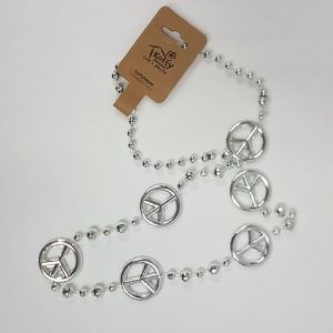 Silver peacesign necklace