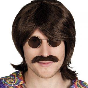 Wig & moustache