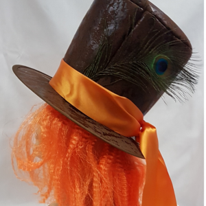 Mad hatter hat with hair