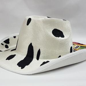 Cowhide cowboy hat