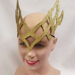 Die cut gold headdress