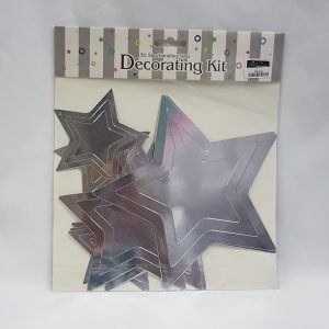 3D Silver star decorating kit