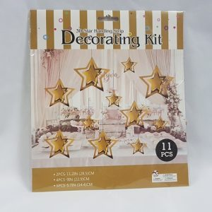 3D Gold Star decoration kit
