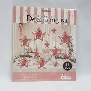 3D Rose gold star decorating kit