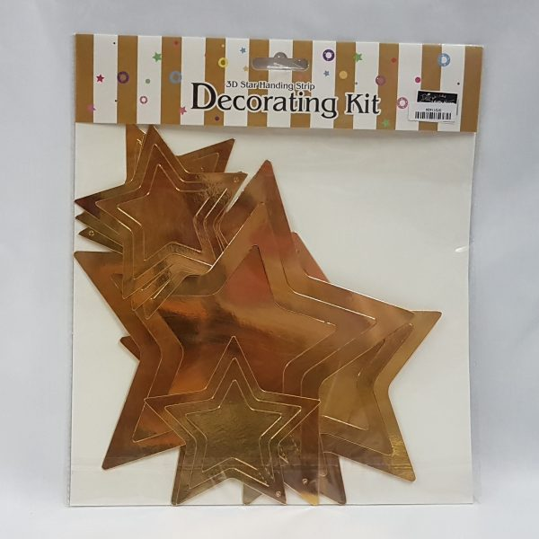 3D gold star decorating kit