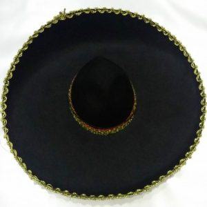 Black sombrero with gold trim