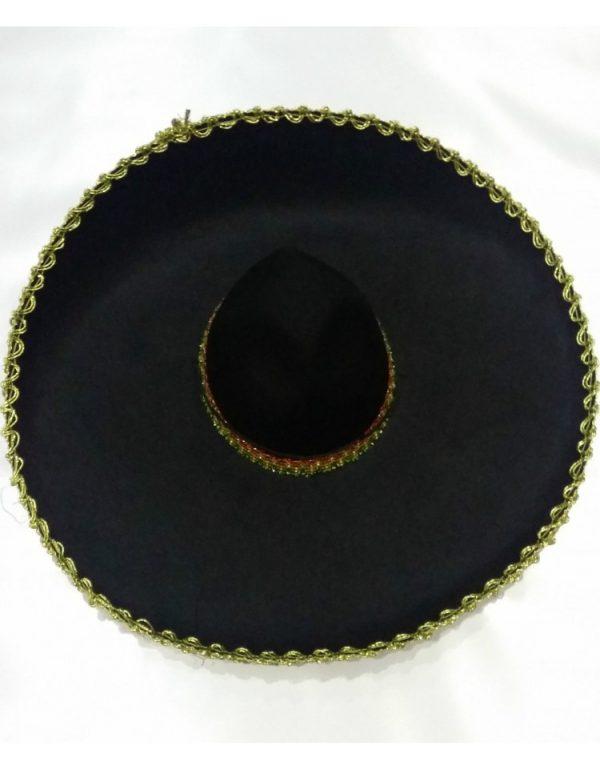 Black sombrero with gold trim