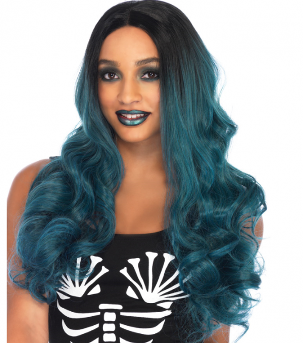 Blended two tone wig blue