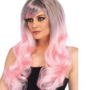 Blended two tone wig pink