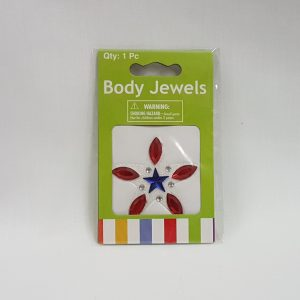 Body jewels - blue & red star