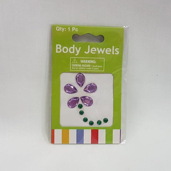 Body jewels - mauve flower
