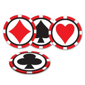 Casino drinks coasters
