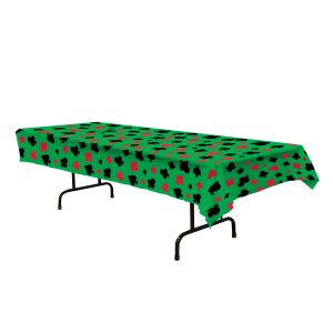 Casino table cover - green