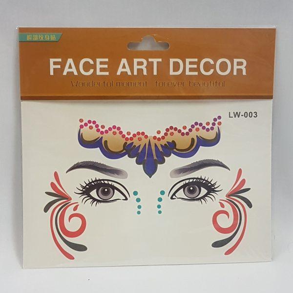 Face art decor - carnival