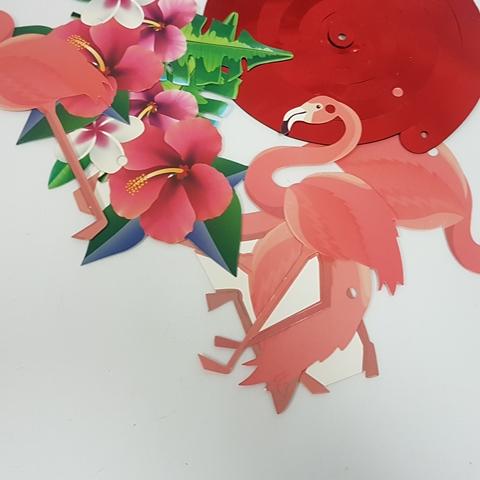 Flamingo tropical decorations